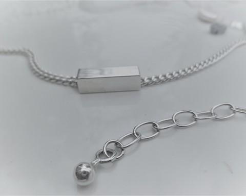 Large thumb bracelets square tube necklace