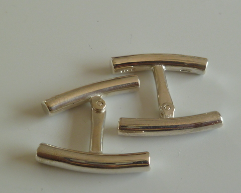 Large thumb cufflinks bars