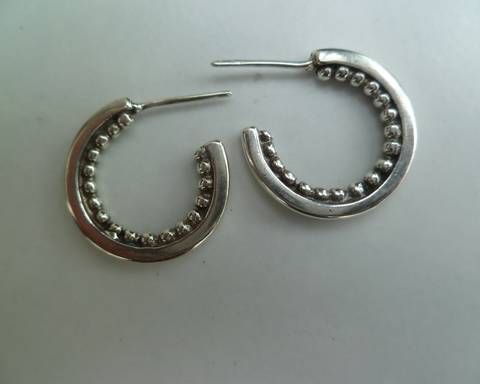 Large thumb earrings bead ear rings