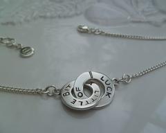 Thumb bracelets a little bit of luck necklace