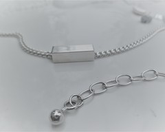 Thumb bracelets square tube necklace