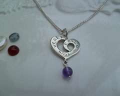 Thumb necklaces follow your heart